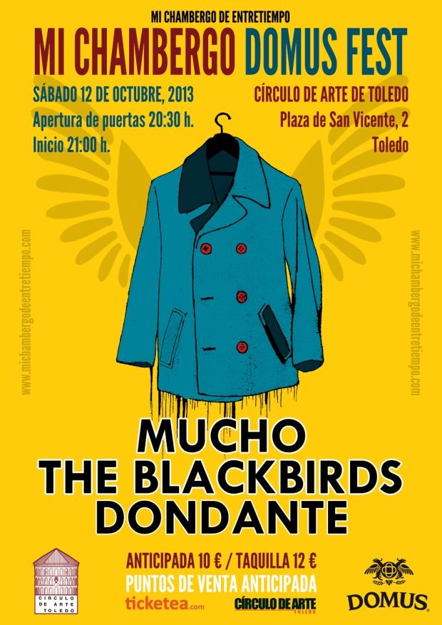 Cartel de Mi Chambergo Domus Fest. Diseño e ilustración de Alfredo Copeiro