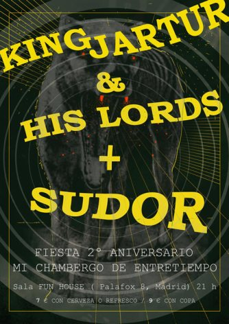 Sudor y King Jartur and His Lords actuaron en el II Aniversario del blog musical Mi Chambergo