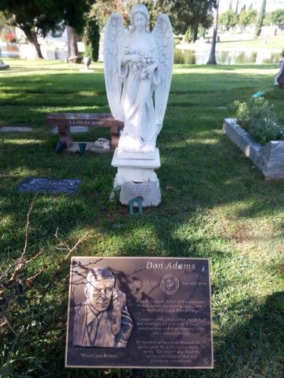 Don Adams, Dee Ramone y Johnny Ramone están enterrados en el mismo cementerio de Los Ángeles.